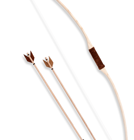 leather bow and arrow